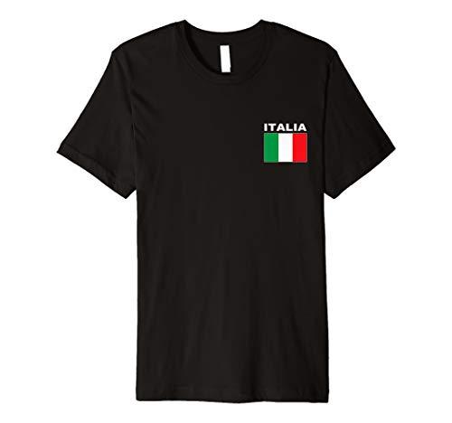 (Italia T-Shirt Italy Flag Azzurri Italian Flags Gift Top Tee Premium T-Shirt)