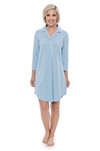 Women's Nightshirt In Bamboo Viscose (Zenrest, Dream Blue, Large) Great Gift Ideas WB0475-DRB-L Bamboo Dreams Nightshirt
