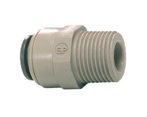Bspt Thread (John Guest Straight Adaptor 1/4 inch Tube OD x 1/8 inch BSPT Male Thread by John Guest)