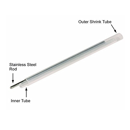 Guantai Dia 2.4mm 60mm (L) Fiber Optic Fusion Splice Protector Protection Sleeves, Clear Heat Shrinkable Tube -1000pcs by Guantai (Image #2)