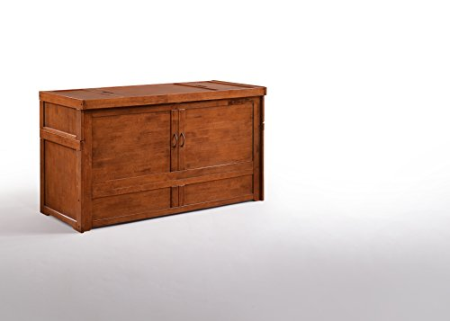 Night & Day Furniture MUR-CUB-QEN-CH-COM Murphy Cube Cabinet Bed, Queen, Cherry (Cabinet Chest)