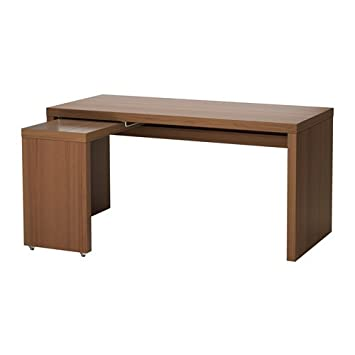 Ikea Desk with pull-out panel - brown stained ash veneer 34214.82317.218