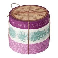 Japanese Washi Masking Tape Set of 3 - Coffret Ducouturier Floral Purple Floral Coffret