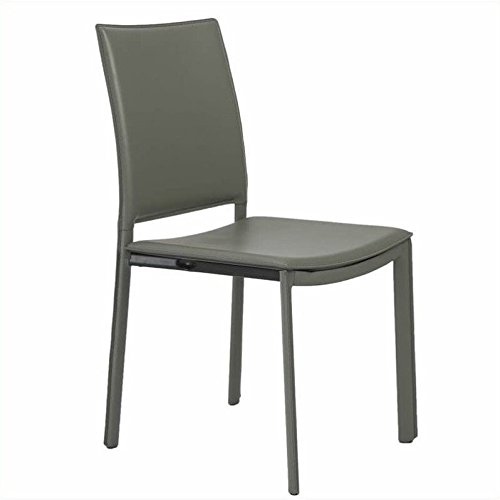 Eurø Style Kate Leatherette Side Dining Chair, Set of 4, Gray - Euro Style Contemporary Chair