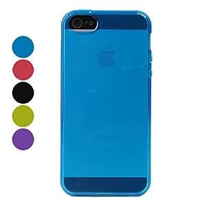 CECT STOCK Diseños simples TPU caso suave para el iphone 5/5s (colores surtidos) , Negro