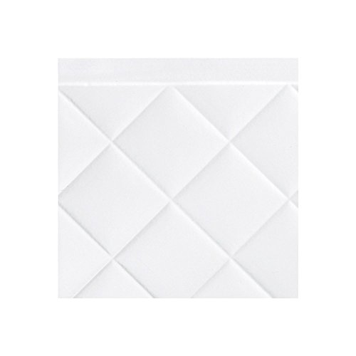 (Fasade Easy Installation Quilted Gloss White Backsplash Panel for Kitchen and Bathrooms (6