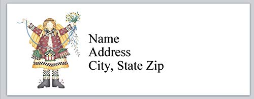 (120 Personalized Return Address Labels Primitive Country Girl with Three Birdhouse (bx 935))
