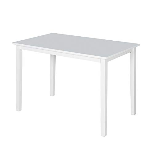 - Target Marketing Systems The Shaker Collection Contemporary Style Wood Kitchen Dining Table, White