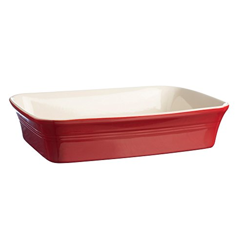 Mason Cash Stoneware Rectangular Baker, 12-1/4-Inches by 8-1/4-Inches, 100-Fluid Ounces, Classic Red