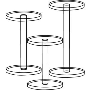 Clear Acrylic Pedestal Riser, Set of 3