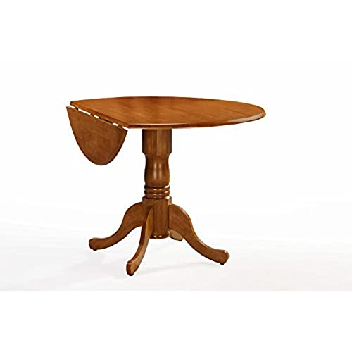 Round Oak Kitchen Tables Round oak table amazon international concepts t04 42dp 42 inch round dual drop leaf ped table oak workwithnaturefo