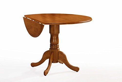 International Concepts T04-42DP 42-inch Round Dual Drop Leaf Ped Table, Oak -