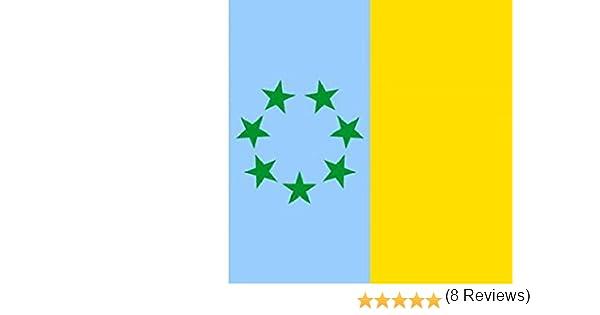 Durabol Bandera de Canarias con Estrellas- tricolor canaria-El MPAIAC Canario 150*90 cm Satén .: Amazon.es: Deportes y aire libre