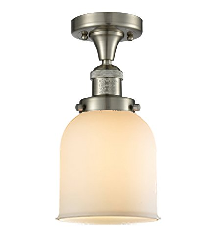 Innovations Lighting Innovations 517-1CH-SN-G51 One Light Semi Flush Mount, Brushed Satin Nickel
