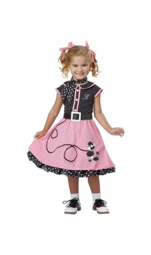50's Poodle Cutie Costume - Toddler Medium (Toddler Poodles Of Fun Costume)
