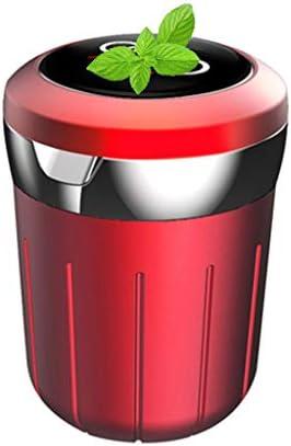 多機能車の灰皿、アウディとの互換性、ふた付きすす収納缶車内旅行 (Color : 赤)