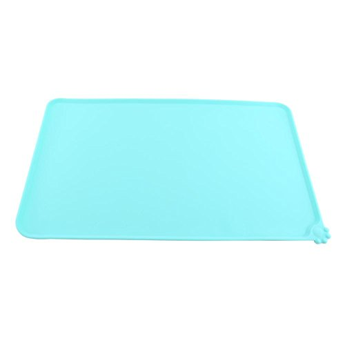 AUNMAS 4Colors Pet Feeding Mat Silicone Dish Bowl Feed Food Water Placemat Dog Puppy Personalised Custom Placemat(3#) (Mats Feeding Personalised Dog)