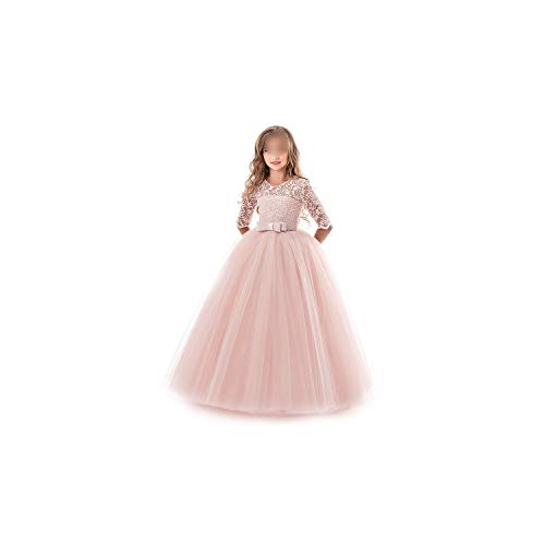 Girl Costume Lace Half Sleeve First Communion Tulle