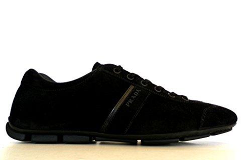 Prada Sneaker Scarpe Uomo in Pelle Scamosciata Modello 2ED037 054 F0002 Nero