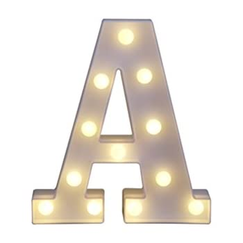 amazoncom decorative light up wooden alphabet letter With letter lights amazon