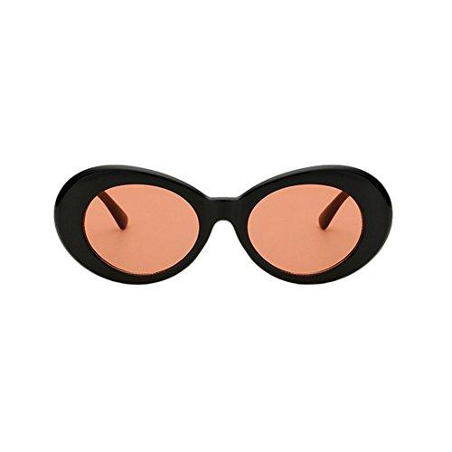 de ovales lunettes style Lunettes de couleurs rétro de choix épaisse soleil mode rouge Noir mod 9 Yefree qFgWtOq8