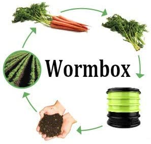 WormBox : Vermicompostador 4 bandejas Negro - 64 litros