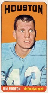 1965 Topps Regular (Football) Card# 83 Jim Norton of the Houston Oilers Ex Condition