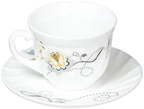 TkUniware Set of 12 Pcs BA200-190 Opal Glassware Cups and Saucer from TkUniware