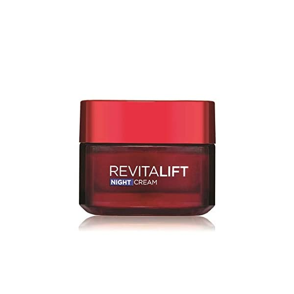 L'Oreal Paris Revitalift Moisturizing Night Cream, 50ml 2021 June A powerful anti-ageing night cream created by L'Oral SkinCare Laboratories for overnight anti-ageing benefits for a younger look Hydrates the skin and boosts regeneration for a fresh and radiant look overnight Dermalift Technology, Pro-Retinol A & Centella Asiatica to re-firm, restore & revitalize the skin