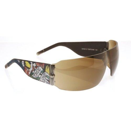 Ed Hardy Ehs-010 Wolf Sunglasses - Tortoise/Brown (Handbag Ed Hardy Womens)