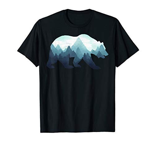 Bear Double Exposure Surreal Wildlife Animal T-Shirt