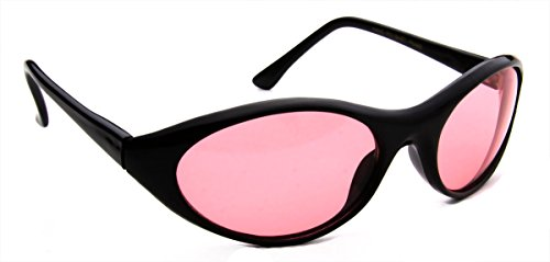Oval Red Lens Sport Men Women Curved Black - Curved Glasses Lenses