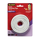 Scotch Foam Mounting Tape, 1/2-inch x 150-inches, White, 1-Roll (4013)