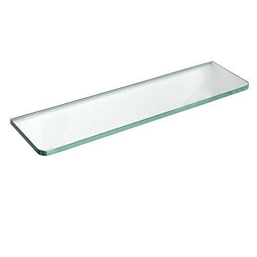 (Dolle Tempered Glass Shelf - GlassLine Rectangle Shelf with Round Corners - 24 x 12 x 5/16)