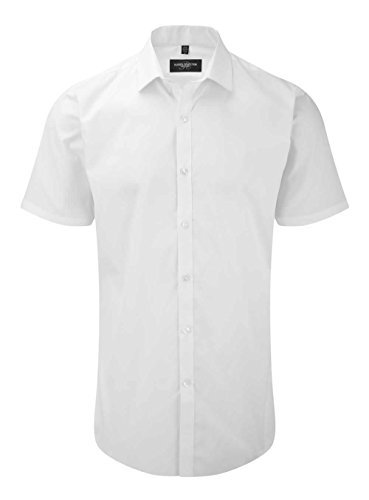 Russell Kollektion Short Sleeve ultimative Stretch-Hemd - White - 4XL