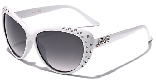 Giselle Kids AGE 6-14 Rhinestone Cat Eye - White Girl Glasses
