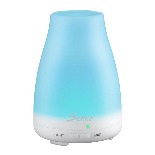 Airpro 4 Light - Seneo Ultrasonic Oil Diffuser Cool Mist Humidifier with 7 Color Changing LED Lights