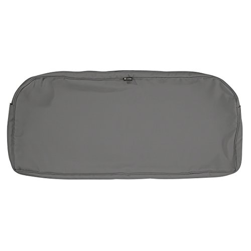 Classic Accessories Montlake Patio Bench Seat Cushion Slip Cover, Light Charcoal, 41x18x3 Contoured