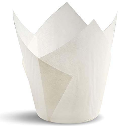 - Tulip Cupcake Liners, Natural Baking Cups for Standard Size Cupcakes and Muffins Liners (300, White)