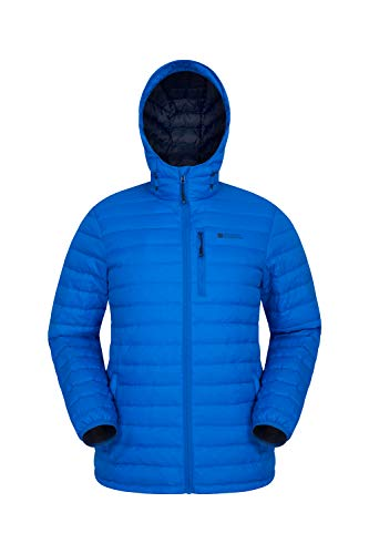 Mountain Warehouse Henry II Mens Down Padded Jacket - Water Resistant Coat, Warm Outerwear, Cosy, Insulated Winter Wear - Clothing for Cold Weather, Outdoor, Travel Cobalt