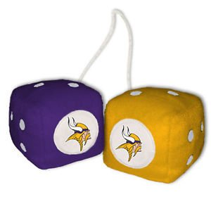 NFL Minnesota Vikings Fuzzy Dice,one purple, one gold w/ - In Minnesota Mall Outlet