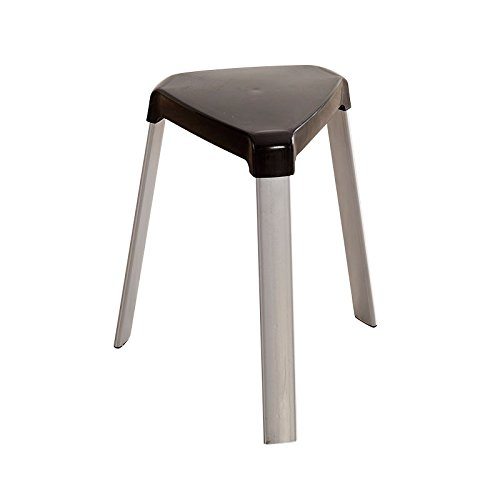 Living room high stool / home dining room chair / simple small bench / fashion creative table stool ( Color : Black ) by Xin-stool