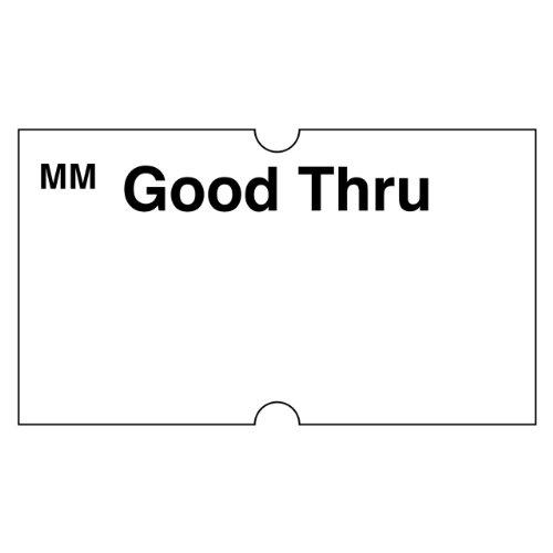 "DayMark Date Coder Removable""Good Thru"" Label, For DM3 SpeedyMark 10 1-Line Marking Gun, White (8,000 Labels) bxNISE9u"