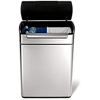 Amazon Com Eko Dual Compartment Stainless Steel Recycle