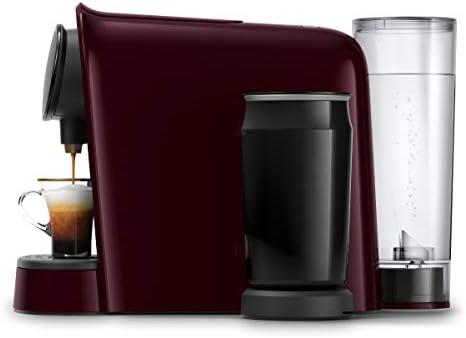Philips LOr Barista LM8014/80 Cafetera Espumador de Leche, Compatible Individual y Cápsula Doble, 19 Bares de Presión, 12 Variedades Incluyendo Cappuccino, 1 l, Color Granate: Amazon.es: Hogar