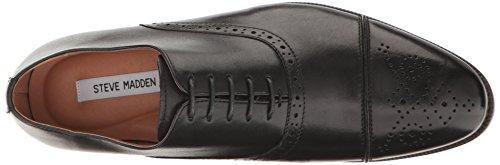 Steve Madden Men's Sovren Tuxedo Oxford Black Leather sale outlet store discount 2014 new free shipping official 3CLjvunM