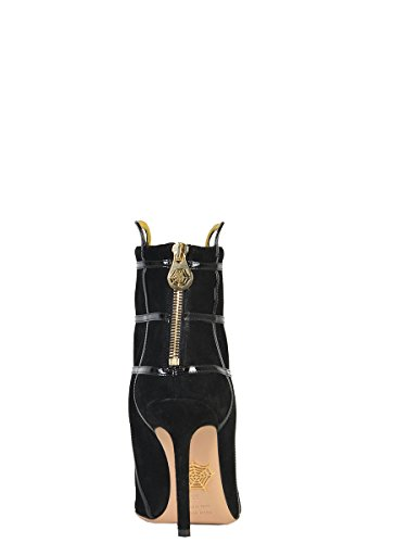 Charlotte Olympia Women's F154394001 Black Suede Ankle Boots VagW2Wy