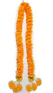 Artificial Yellow Marigold Garland 1.15 meter for Make A - Square Grapevine Town
