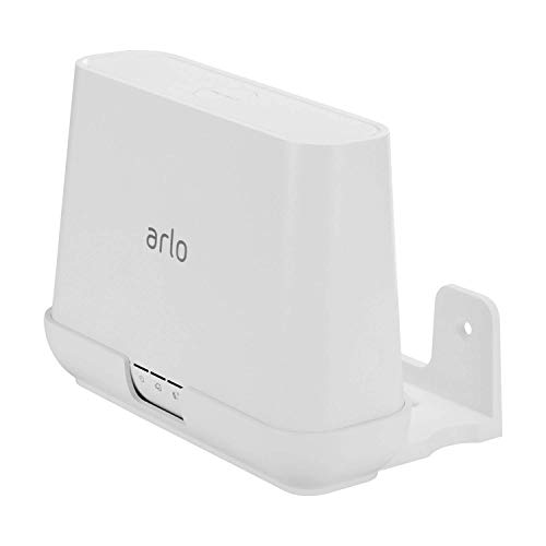 Aobelieve Wall Mount Holder for Arlo Base Station, Complete Wall Mounting Bracket for Arlo & Arlo Pro Compatible Router Hub, A Space-Saving Solution, White