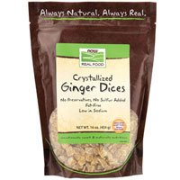 NOW Foods - Healthy Foods Dices Crystallized Ginger - 16 oz. ( Multi-Pack) by NOW Foods